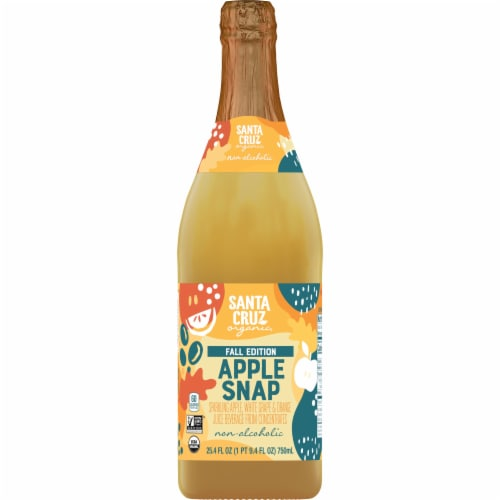 Santa Cruz Organic Apple Snap Sparkling Juice Perspective: front