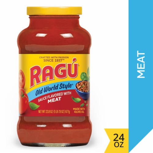 Ragu Old World Style Flavored With Meat Sauce Perspective: front