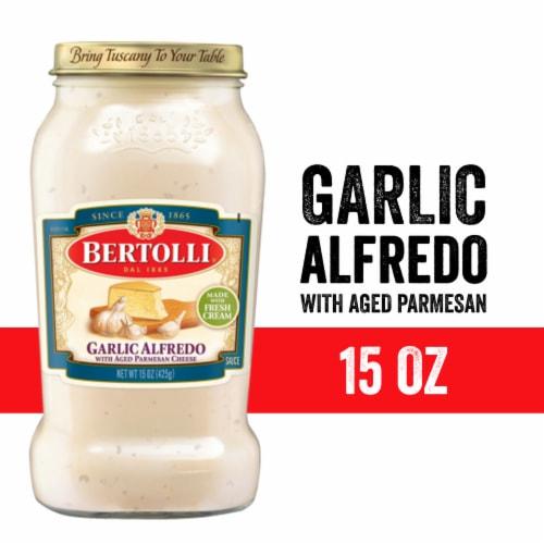Bertolli Creamy Garlic Alfredo Sauce Perspective: front
