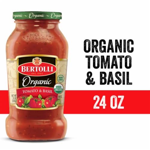 Bertolli Organic Tomato & Basil Sauce 24 Ounces Perspective: front