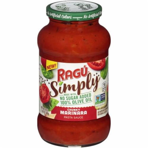 Ragu Simply Chunky Marinara Pasta Sauce Perspective: front