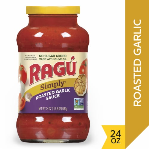 Ragu Simply Roasted Garlic Pasta Sauce Perspective: front