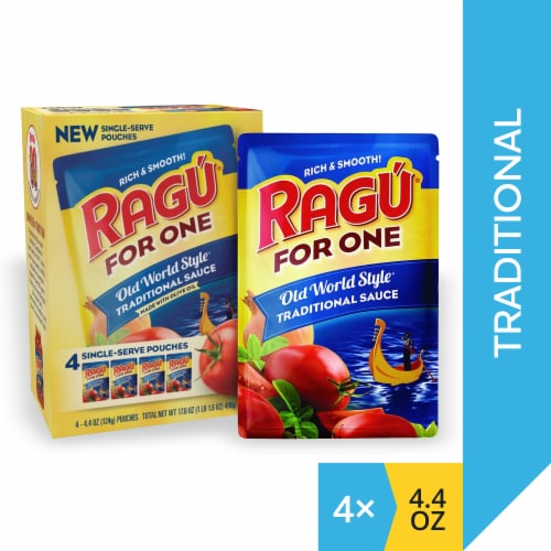 Ragu® For One Old World Style Traditional Sauce Single-Serve Pouches Perspective: front