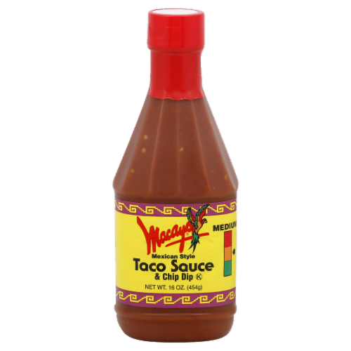 Macayo Medium Mexican Style Taco Sauce Perspective: front