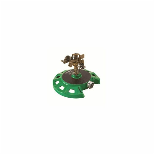 Dramm DRM1015084 Circular Base Impulse Sprinkler, Green Perspective: front