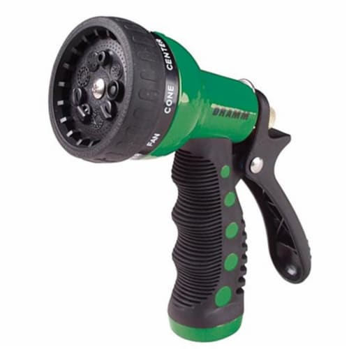 Dramm DRM6032074 9 Pattern Revolver Nozzle Flow Revolver Spray Gun, Green - Case of 6 Perspective: front