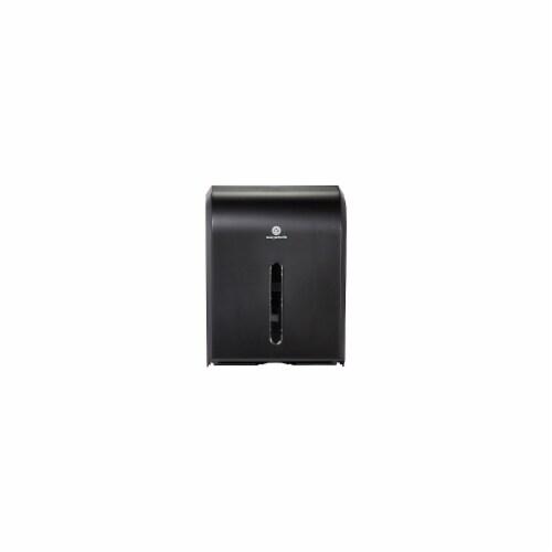 GP PRO Combi-Fold Manual Paper Towel Dispenser, Black Perspective: front
