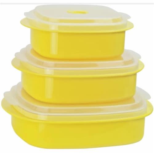 Reston Lloyd Lemon - Microwave Steamer Set Perspective: front