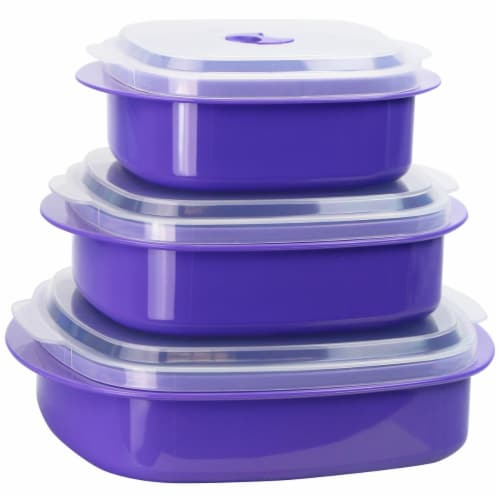 Reston Lloyd Purple - Microwave Cookware-Storage Set Perspective: front
