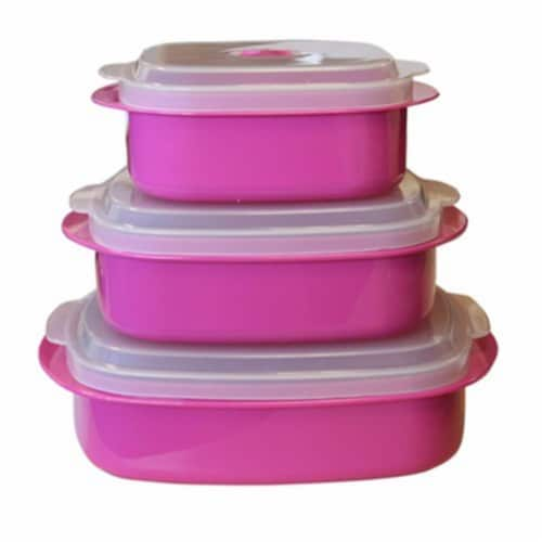 Reston Lloyd 20603 Magenta - Microwave Steamer Set Perspective: front