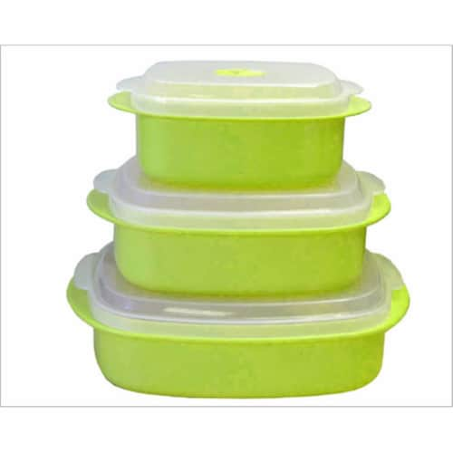 Reston Lloyd Lime - Microwave Steamer Set Perspective: front