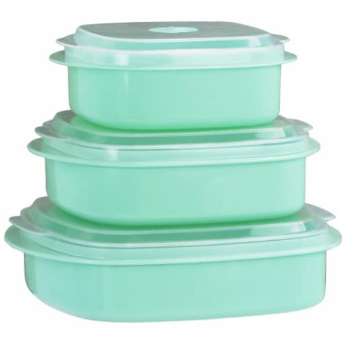 Reston Lloyd Microwave Cookware & Storage Set, Seafoam Perspective: front