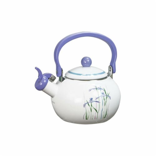 Reston Lloyd 2 qt Shadow Iris Teakettle Perspective: front