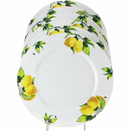Reston Lloyd 71419 Melamine Dinner Plate Set, Fresh Lemons - 6 Piece Perspective: front