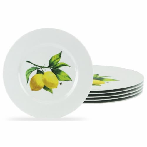 Reston Lloyd 72419 Melamine Salad Plate Set, Fresh Lemons - 6 Piece Perspective: front
