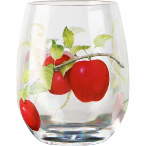 Reston Lloyd 79999 Set 16 oz Acrylic Wine Glass, Harvest Apple Perspective: front