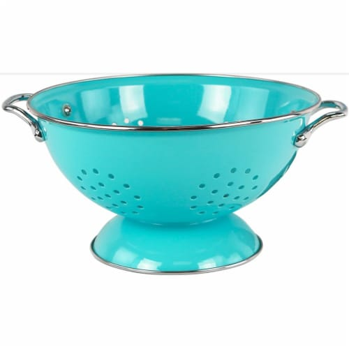 Reston Lloyd 80702 Turquoise - 3 Qt Colander Perspective: front