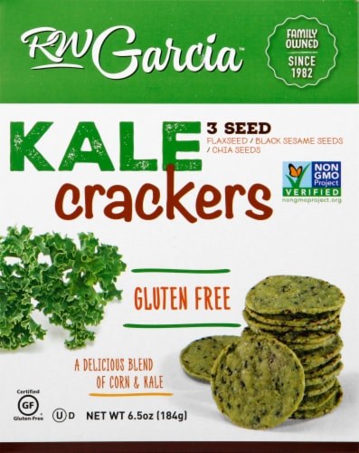 R.W. Garcia 3 Seed Kale Crackers Perspective: front