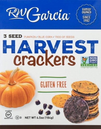 R.W. Garcia 3 Seed Harvest Crackers Perspective: front