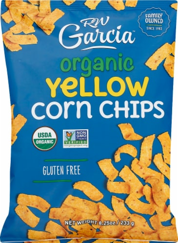 RW Garcia Organic Yellow Corn Chips Perspective: front