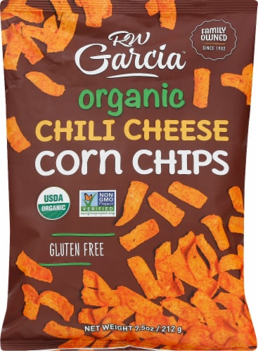 RW Garcia Organic Chili Cheese Corn Chips Perspective: front