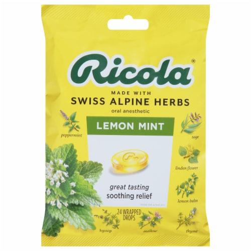 Ricola Lemon Mint Cough Drops Perspective: front