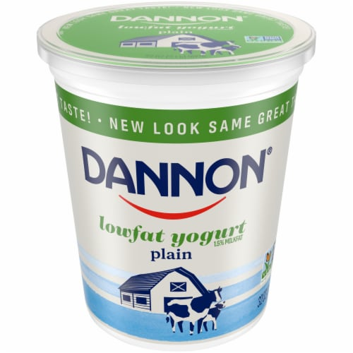 Dannon All Natural Plain Yogurt Perspective: front