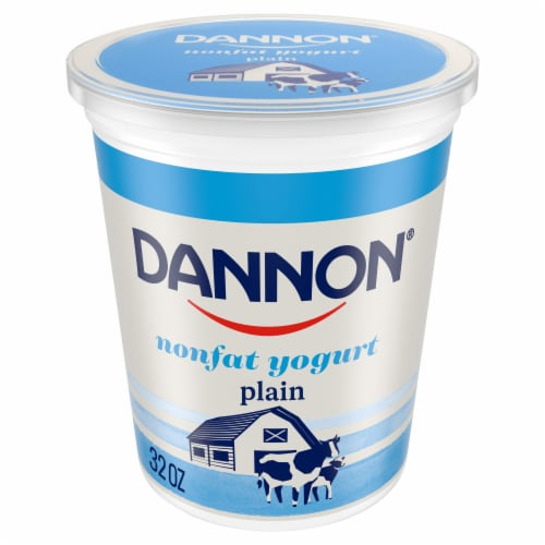 Dannon All Natural Plain Nonfat Yogurt Perspective: front