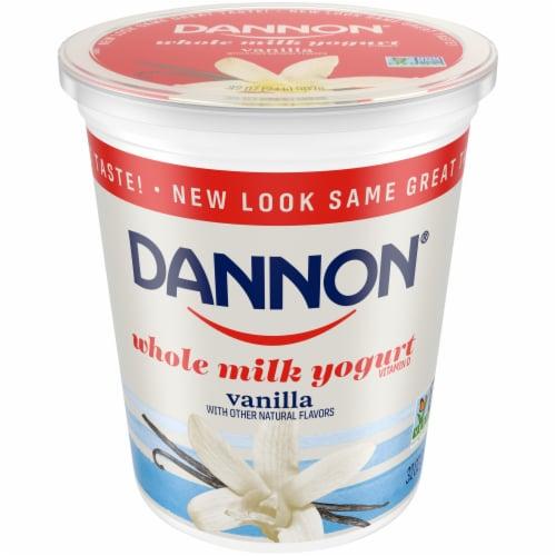 Dannon Vanilla Yogurt Perspective: front