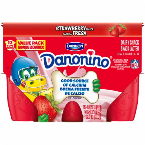 Dannon Danonino Strawberry Yogurt 12 Cups Perspective: front