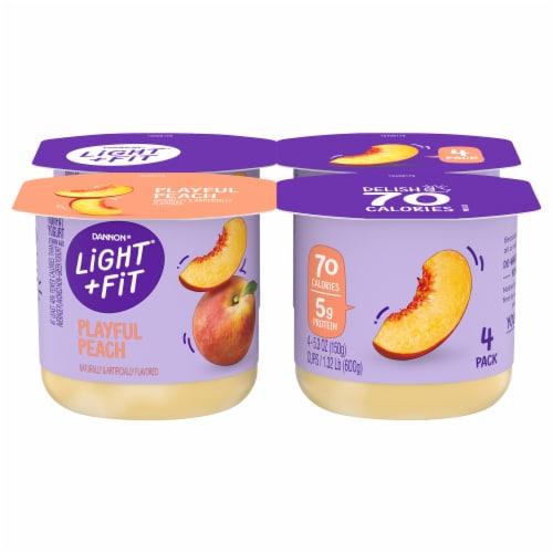 Dannon® Light & Fit Playful Peach Nonfat Yogurt Perspective: front