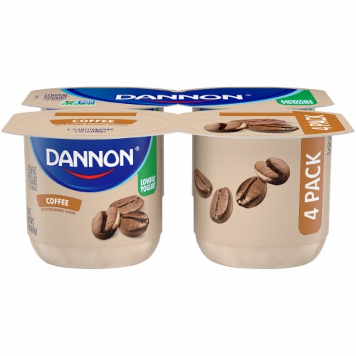 Dannon Coffee Flavored Lowfat Yogurt Perspective: front