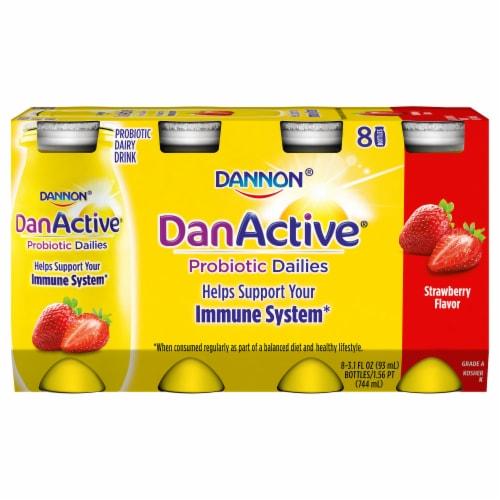Dannon® DanActive Strawberry Yogurt Drink Perspective: front