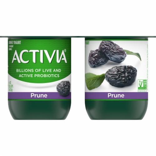Activia Prune Lowfat Probiotic Yogurt Perspective: front