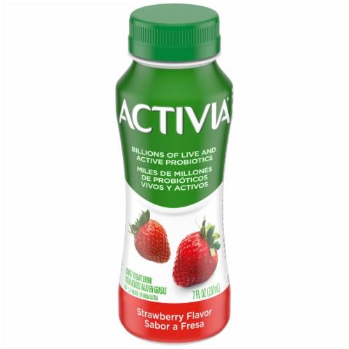 Dannon Activia Strawberry Yogurt Drink Perspective: front