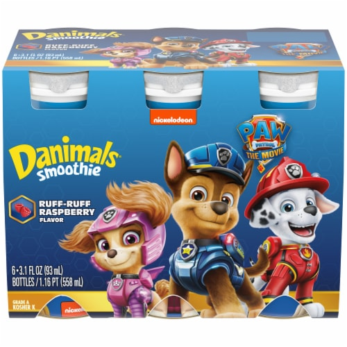 Danimals Paw Patrol Ruff-Ruff Raspberry Flavor Smoothies Perspective: front