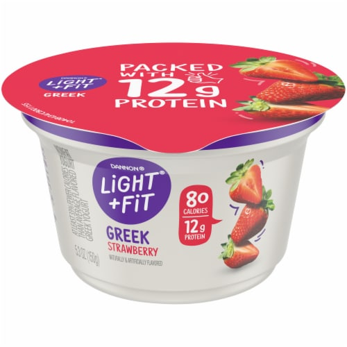 Dannon Light & Fit Strawberry Nonfat Greek Yogurt Perspective: front