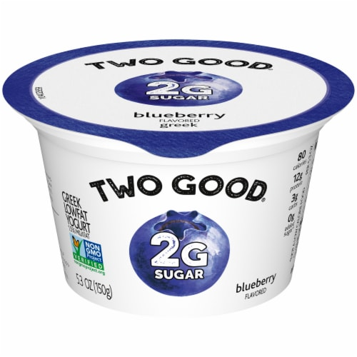 Two Good Blueberry Lowfat Greek Yogurt Perspective: front