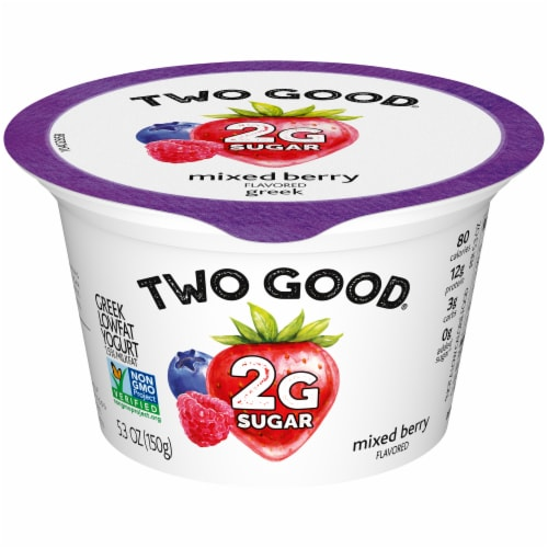 Two Good Mixed Berry Lowfat Greek Yogurt Perspective: front