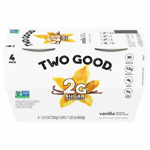 Two Good Vanilla Lowfat Greek Yogurt Perspective: front
