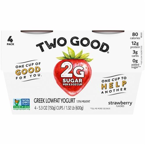 Two Good Strawberry Lowfat Greek Yogurt Perspective: front
