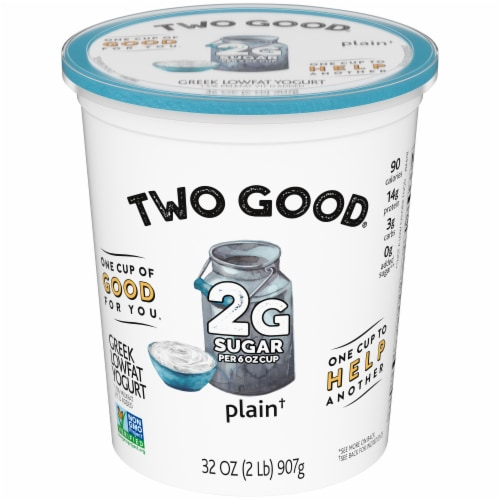 Two Good Lowfat Plain Greek Yogurt Perspective: front