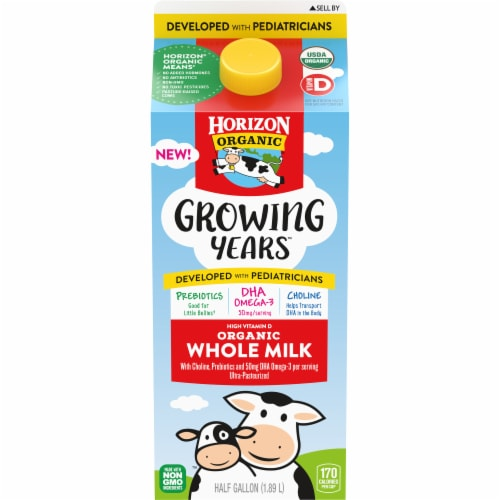 Horizon Organic Growing Years Organic Whole Milk Perspective: front
