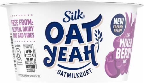 Silk Oat Yeah The Mixed Berry One Oatmilkgurt Yogurt Alternative Perspective: front