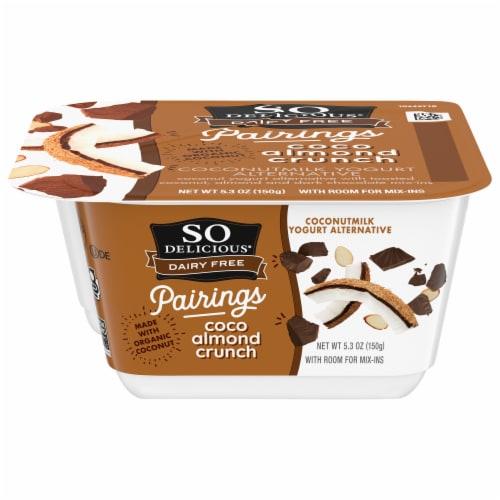 SO Delicious Coco Almond Crunch Coconutmilk Yogurt Alternative Perspective: front