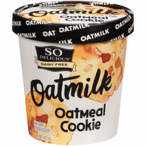 SO Delicious Oatmilk Oatmeal Cookie Frozen Dessert Perspective: front