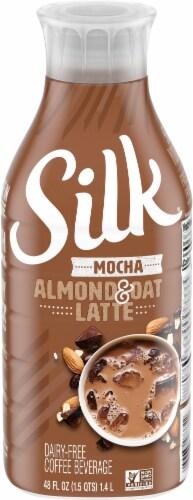 Silk Mocha Almond & Oat Latte Dairy-Free Coffee Beverage Perspective: front