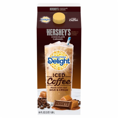 Hershey's Iced Coffee - Chocolate Caramel Perspective: front