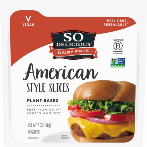SO Delicious Dairy Free Plant-Based American Style Slices Perspective: front