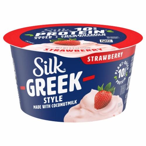 Silk® Greek Style Strawberry Coconut Milk Yogurt Alternative Perspective: front